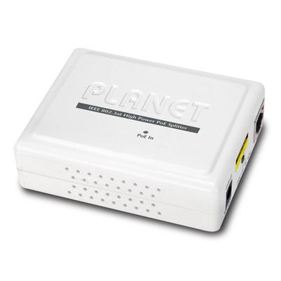 PLANET IEEE 802.3at Gigabit Power over Ethernet Plus Splitter Netwerk splitter - Wit