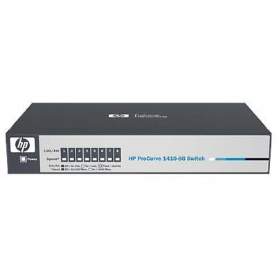 Hp switch: V 1410-8G - Grijs