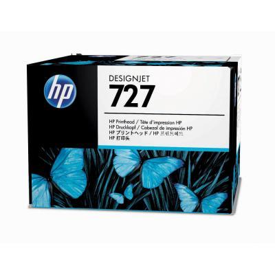 Hp printkop: 727 DesignJet printkop - Cyaan, Grijs, Magenta, Mat Zwart, Foto zwart, Geel