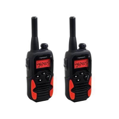 Topcom walkie-talkie: RC-6405 Walkie Talkie - Twinwalker 9500 Longe Range - Zwart, Rood