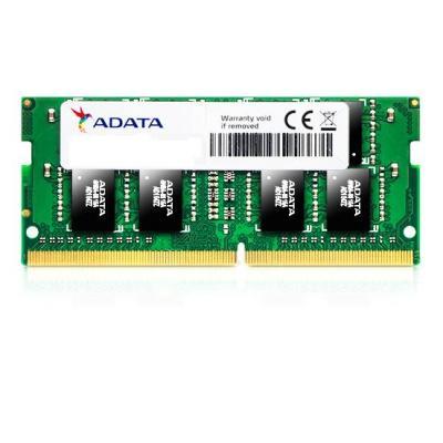 Adata RAM-geheugen: 4GB, DDR4, SO-DIMM, 2400MHz, 260pin, 512MX8
