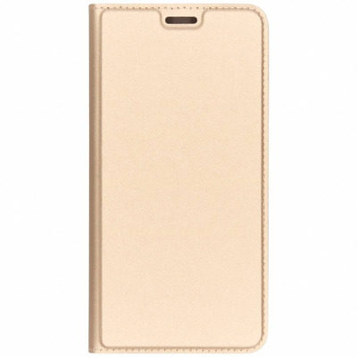 Slim Softcase Booktype Samsung Galaxy A7 (2018) - Goud / Gold Mobile phone case