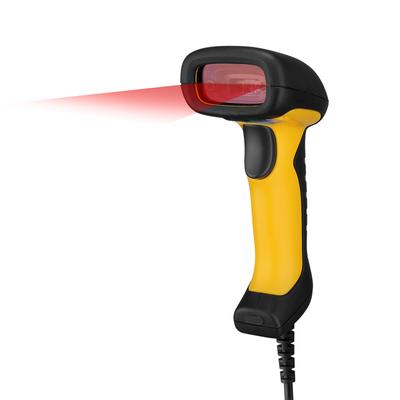 Adesso NuScan 2400U - Waterproof Handheld CCD Barcode scanner - Zwart,Geel