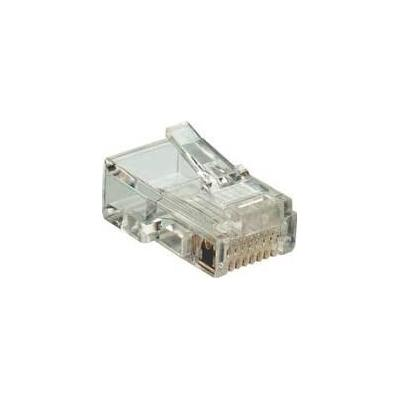 Microconnect kabel connector: RJ11, 6P-4C Plug - Transparant