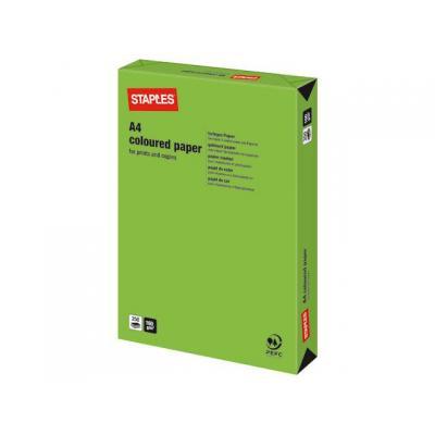 Staples papier: Papier SPLS A4 160g grasgroen/pak 250v