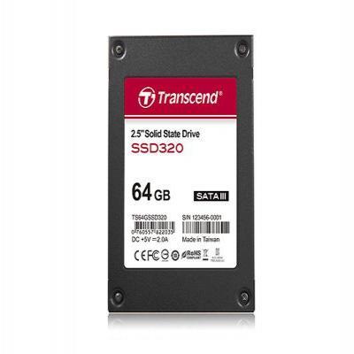 """Transcend SSD: 64GB 2.5"""" SATA III - Zwart"""