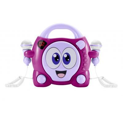 """Bigben interactive CD speler: Draagbare CD speler met karaokefunctie """"My Bubble"""" - Roze, Paars, Wit"""