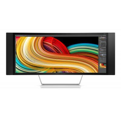 """Hp monitor: Z34c 34"""" UltraWide Quad HD  - Zwart, Zilver"""