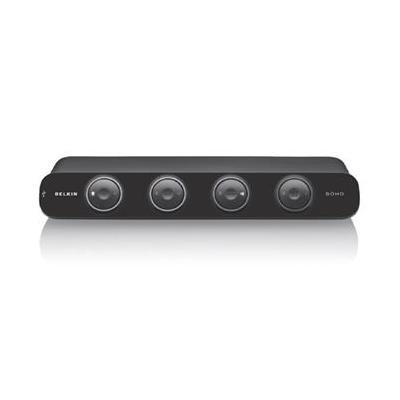 Linksys 4 Port OmniView SOHO with Audio KVM switch - Zwart