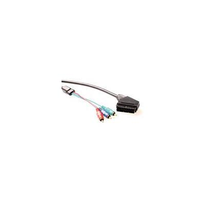 ACT Component Video kabel Scart - 3 x Tulp male