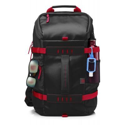 "Hp rugzak: 39.62 cm (15.6"") Odyssey Backpack Red/Black - Zwart, Rood"