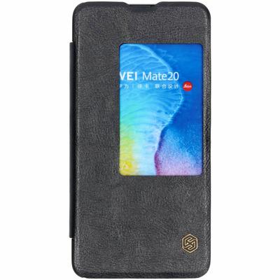 Qin Leather Slim Booktype Huawei Mate 20 - Zwart / Black Mobile phone case