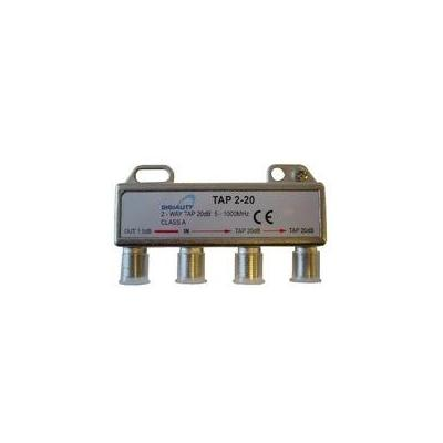 Digiality kabel splitter of combiner: 2-way tap 1.5/20dB, 5-1000 MHz