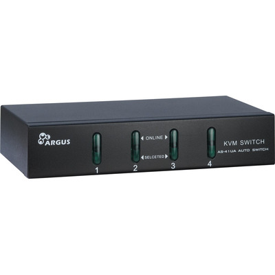 Inter-Tech KVM-AS-41UA KVM switch - Zwart