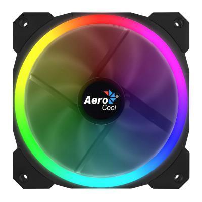 Aerocool 120 mm, 3 - Pin, 1200 rpm, 14.1 dB, 1.8 W, RGB LED, Black Hardware koeling - Zwart