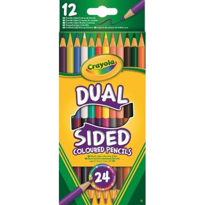Crayola potlood: 12 Duo-kleurpotloden - Multi kleuren