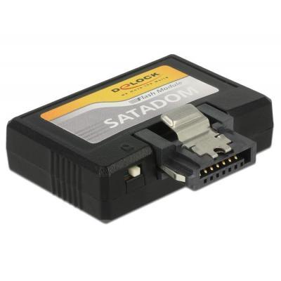 DeLOCK 32 GB, SATA 6 Gb/s, MLC, 270 MB/s, 45 MB/s, -40 °C ~ 85 °C, 37.17 x 31.50 x 10.20 mm SSD - Zwart
