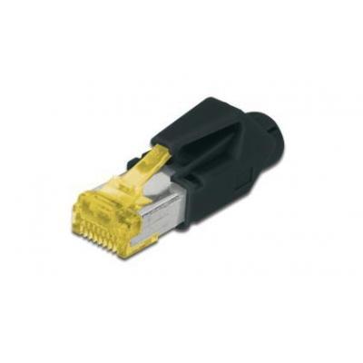 ASSMANN Electronic CAT6A Kabel connector - Zwart, Geel