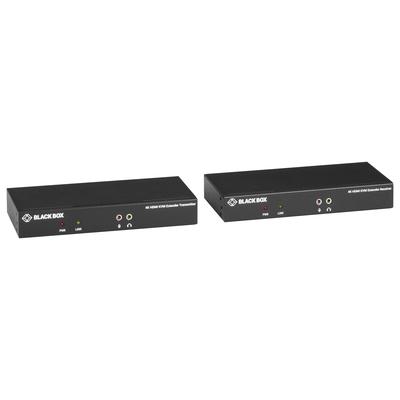 Black Box KVX Series KVM Extender over CATx - 4K, Single-Head, HDMI, USB 2.0, Serial, Audio, Local Video - .....