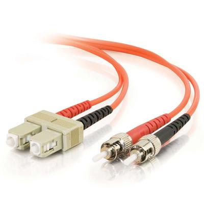 C2G 10m SC/ST Fiber optic kabel