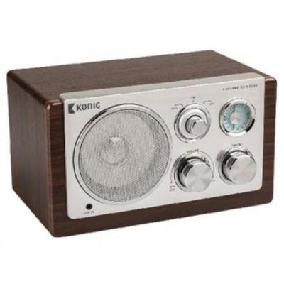 König radio: Table radio retro dark wood, FM/AM, Brown - Bruin