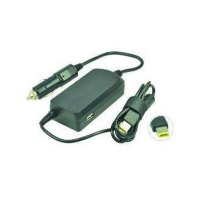 2-power oplader: DC Car Adapter, 20 V, 4.5 A, 90 W - Zwart