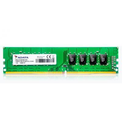 Adata RAM-geheugen: 4 GB, DDR4 U-DIMM, 2133 MHz, 288-Pin
