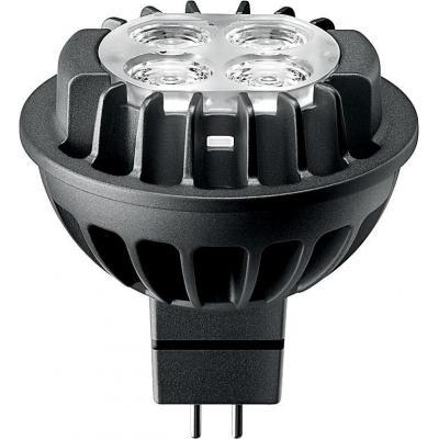 Philips led lamp: GU5.3, 2700K, 1300cd, 500lm, 7W, MR16 - Zwart