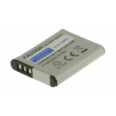 2-Power Digitale Camera Accu 3,7V 750mAh - Grijs