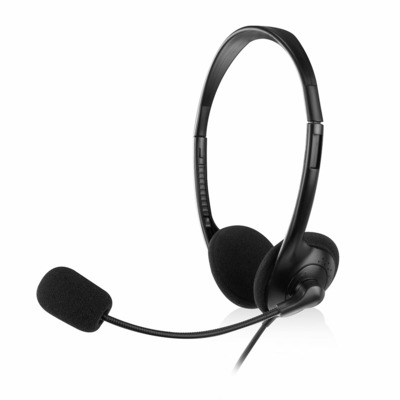 Ewent 101dB/-58dB, 3.5mm Headset - Zwart