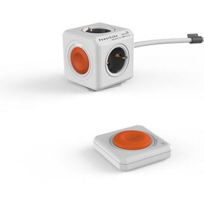 Allocacoc power extrention: PowerCube Remote Extended + Remote - Oranje, Grijs, Wit