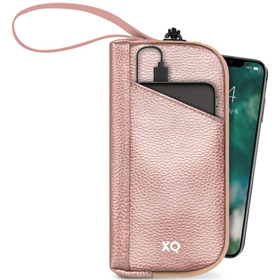 Xqisit UV-C Sterilizer bag with removable 5000 mAh Power Bank, Rose gold Ultraviolette sterilizator - Roségoud