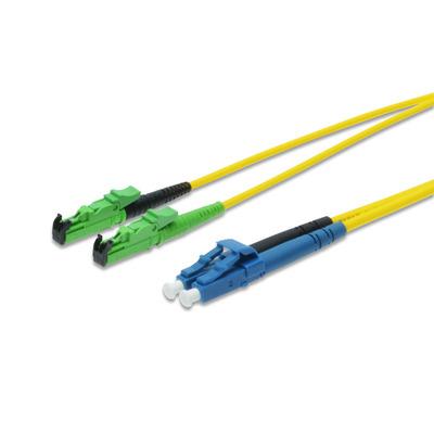 ASSMANN Electronic E2000-LC, 25m Fiber optic kabel - Geel