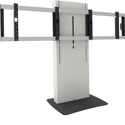 SmartMetals Business & VC statief elektrisch verstelbaar, max. 2x 65 inch, 100kg Monitorarm - Zwart, Wit