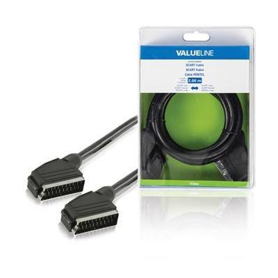 Valueline : SCART, 2m - Zwart