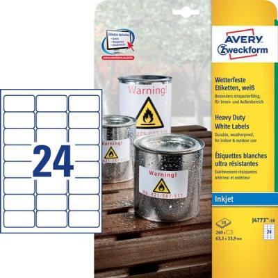 Avery Zweckform J4773-10 Etiket - Wit