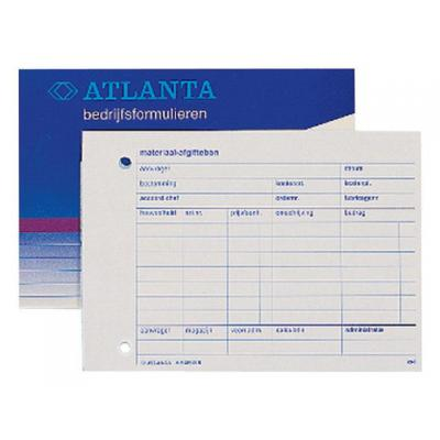 Atlanta telefoonberichten kussen of boek: Materiaal afgiftebon/blok 50v