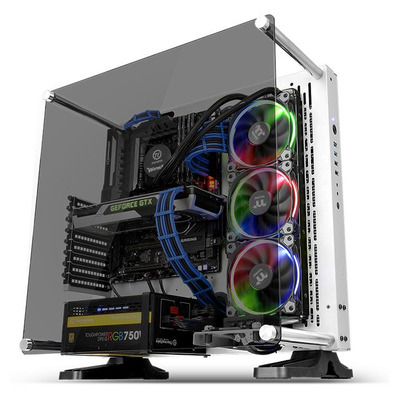 Thermaltake Core P3 TG Snow Behuizing - Transparant, Wit