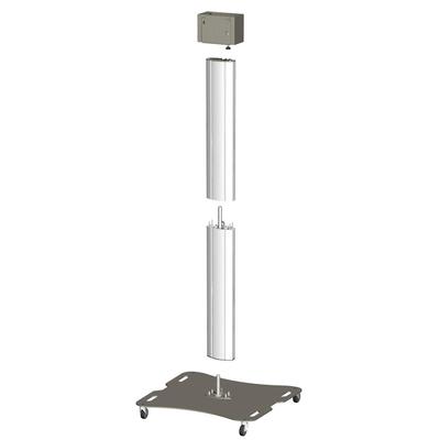 SmartMetals Deelbaar statief-trolley voor 2 schermen t/m 50 inch, dubbele uitvoering TV standaard - .....