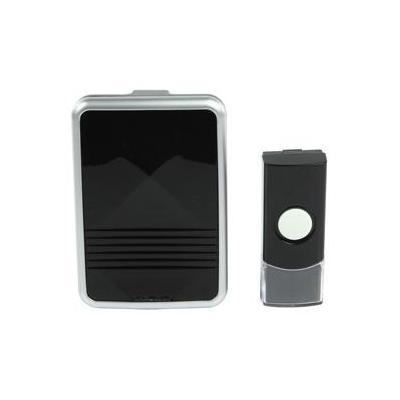 Hq deurbel: Wireless, 433 MHz, IP44, 80 m, Zwart