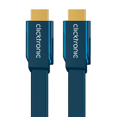 ClickTronic 1m High Speed HDMI HDMI kabel - Blauw