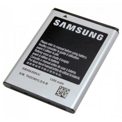 Samsung batterij: Li-Ion 1350mAh - Zwart, Grijs