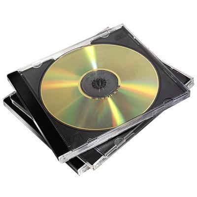 Fellowes 10x CD doosje dubbel - Zwart,Transparant