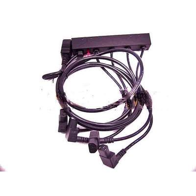 Hewlett Packard Enterprise Connects four power supplies to a single power plug, power cord .....