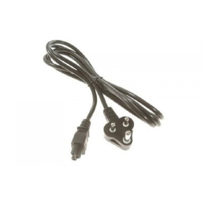 HP Power cord (Black) - 1.8m (5.9ft) long - Has straight C5 (F) plug for power output (for 240V in South Africa) .....