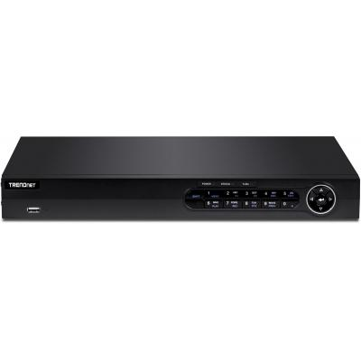 "Trendnet TV-NVR408, 8 channel, 2x 8.89 cm (3.5"") SATA HDD, 2x USB 2.0, 8x 10/100 PoE+, HDMI, VGA, 380 x 310 x ....."