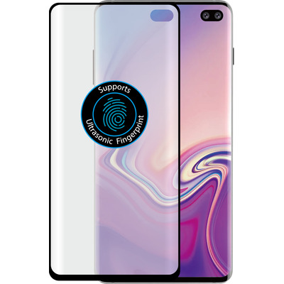 Azuri Duo curved voor Samsung Galaxy S10 Plus Screen protector - Zwart, Transparant