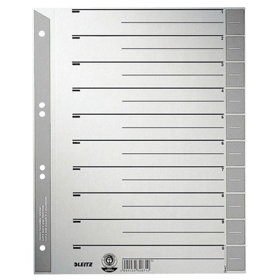 Leitz A4, 240 x 1 x 300 mm, 230 g/m² Indextab - Grijs