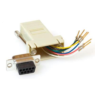 ACT Monteerbare heavy duty verloop adapter D-sub 9-polig - modulair Kabel adapter - Beige,Metallic