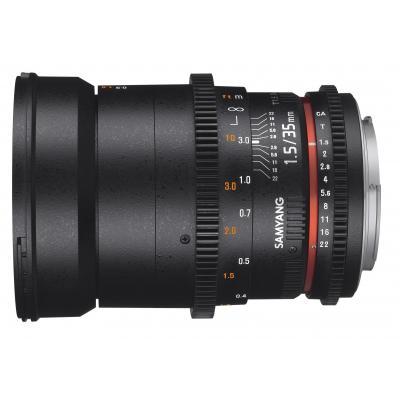 Samyang camera lens: 35mm T1.5 VDSLR AS UMC II - Zwart